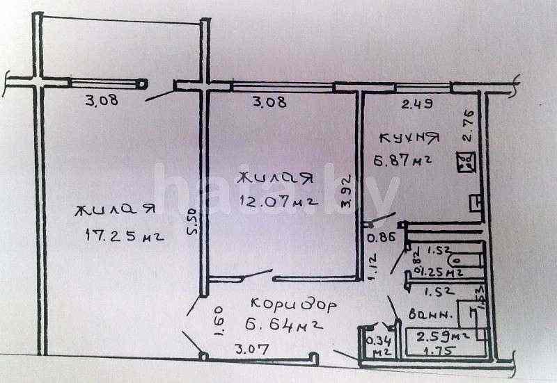 2-ком. квартира в районе Ефремовского авторынка. Фото