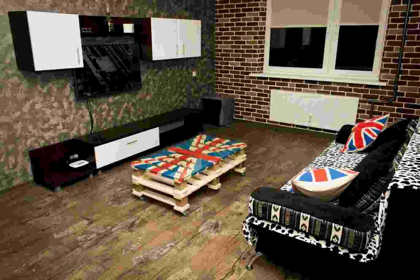 Современная,уютная 1-ком.квартира с дизайнерской отделкой в центральном р-не г. Гомеля. Фото