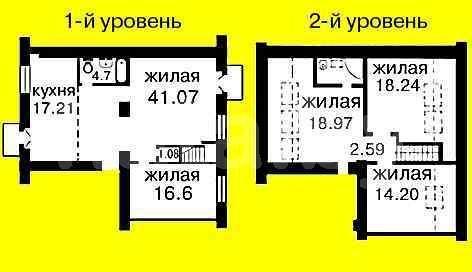 5 - комнатная квартира в двух уровнях в самом центре города