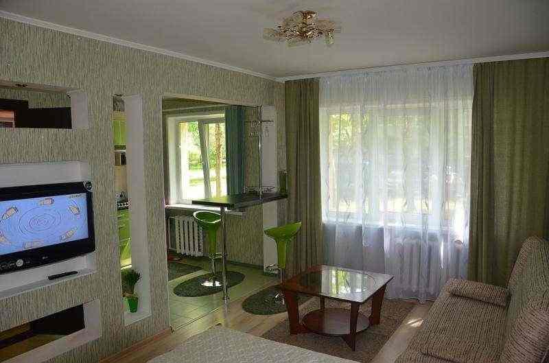 Квартира-студия на сутки,часы с евроремонтом и WI-FI интернетом по проспекту Победы. Фото