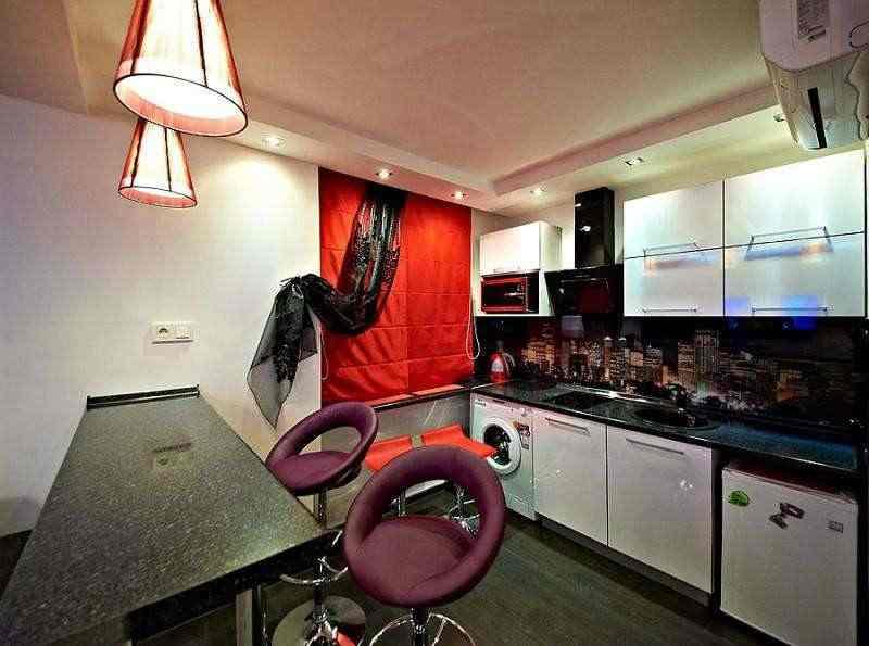 Квартира с дизайнерским ремонтом. Джакузи.Кондиционер. wi-fi. Фото