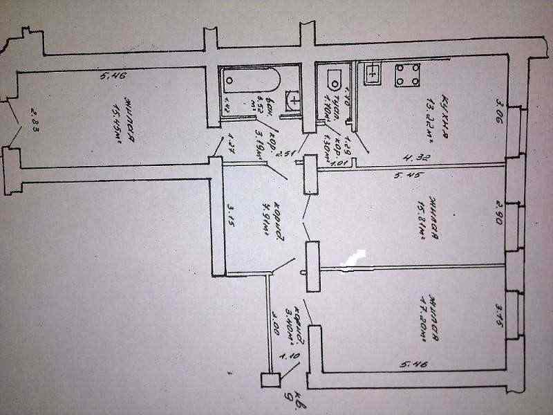3-ех комнатная квартира Сталинка в историческом центре  Минска. Фото