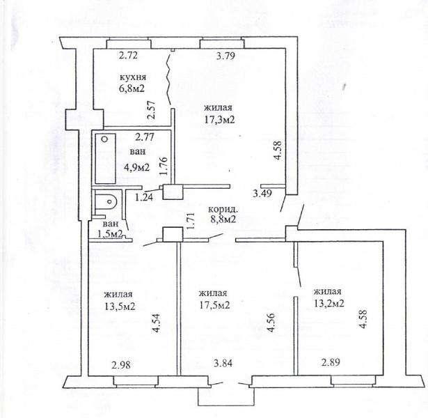 Продается 4-конатная квартира по ул. Козлова, д.7 в г. Минске