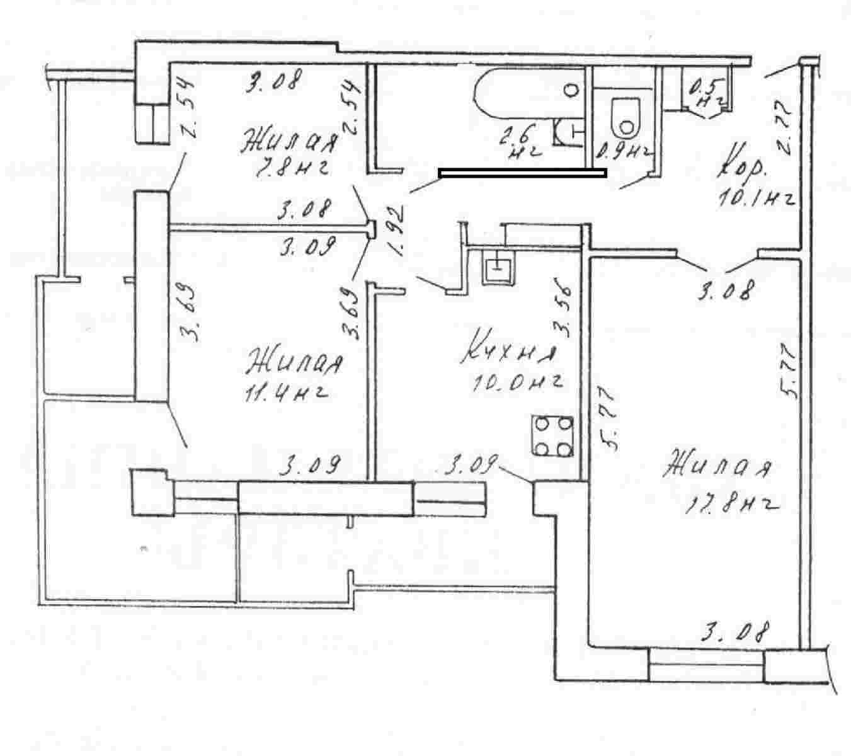 Продается квартира 3-комнатная квартира по ул. Л. Украинки, д. 6, корп. 3