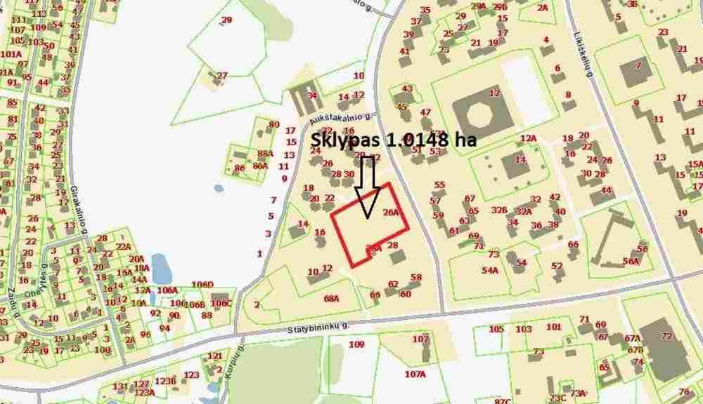 Продается участок 101.48 м2, Литва, Вильнюс. Фото