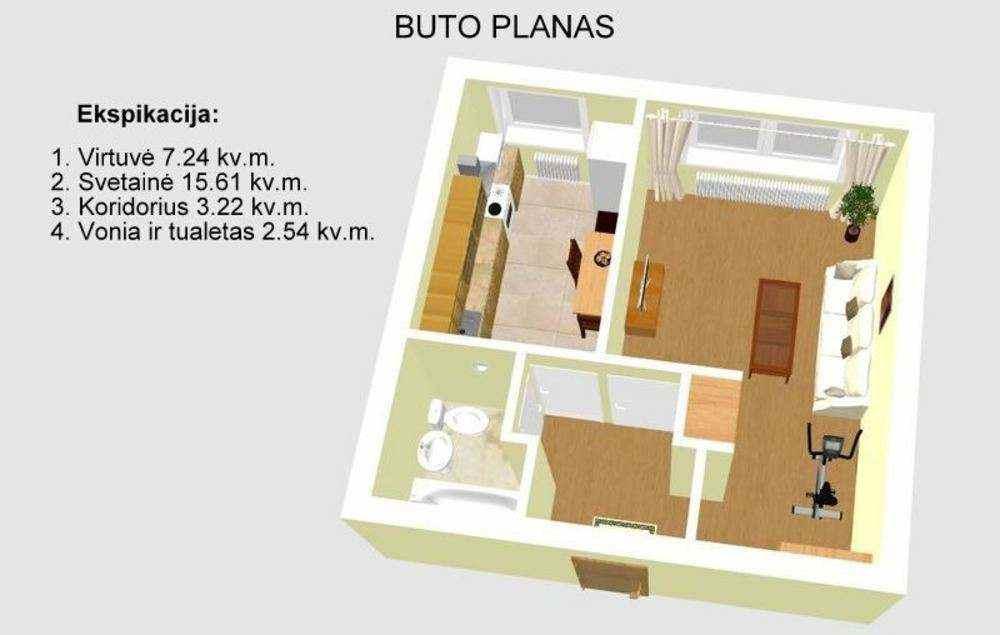Продажа квартиры 29.05 м2, Литва, Вильнюс